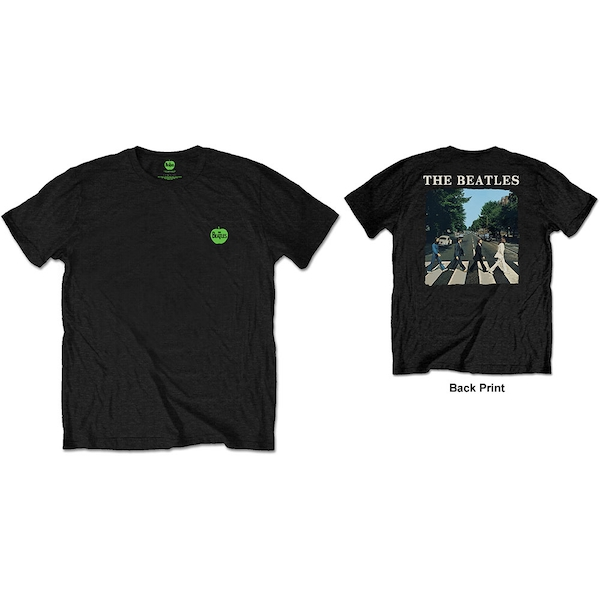 The Beatles - Abbey Road & Logo Men's Small T-Shirt - Black