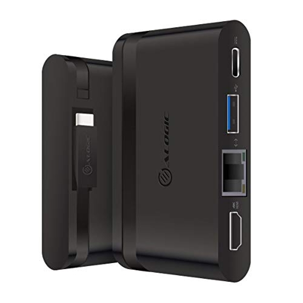 ALOGIC USB C Hub, 100W Laptop Charging, 4K HDMI, Gigabit Ethernet, USB A, USB C, Travel Dock, Compatible with Compatible with MacBook, Surface laptops, XPS and more(Thunderbolt 3 Compatible)