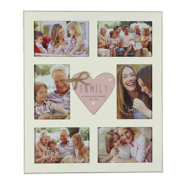 """4"""" x 6"""" - Love Life Family Collage Frame"""