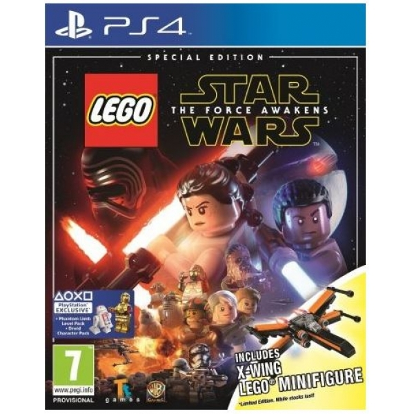 Lego Star Wars The Force Awakens Special Edition PS4 Game (X-Wing Figure)
