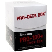 Ultra Pro 100  White Deck Box