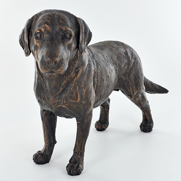 Labrador Standing Cold Cast Bronze Sculpture 16cm
