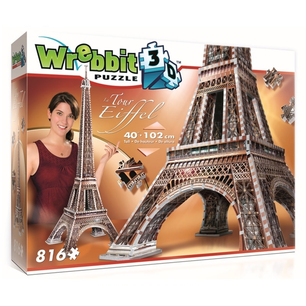 Wrebbit 3D The Eiffel Tower Jigsaw Puzzle - 816 Pieces [Damaged Packaging]