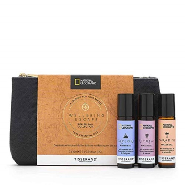 Tisserand Aromatherapy National Geographic Wellbeing Escape Roller Ball Collection (3x10ml)