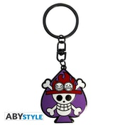One Piece - Skull Ace Metal Keyring