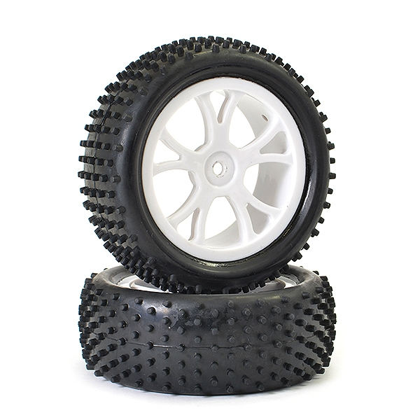 Ftx Vantage Front Buggy Tyre Mounted On Wheels (Pr) - White
