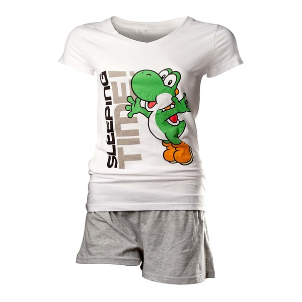 Nintendo - Yoshi Women's Large Nightwear - White/Grey
