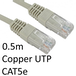 RJ45 (M) to RJ45 (M) CAT5e 0.5m Grey OEM Moulded Boot Copper UTP Network Cable - Image 2