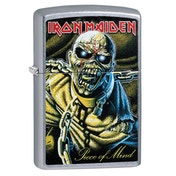 Zippo Iron Maiden Piece of Mind Chrome Regular Windproof Lighter