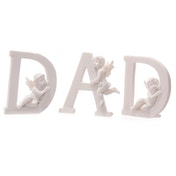 Cute Cherub DAD Letters Ornament