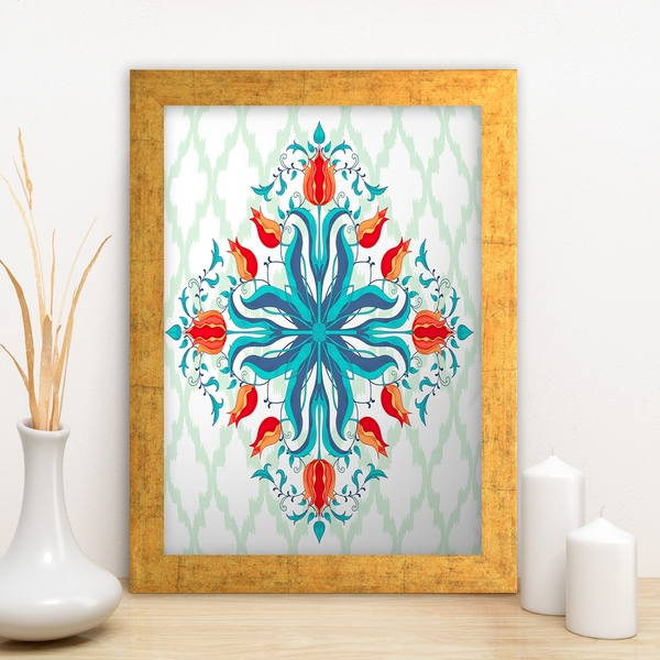 AC1038693658 Multicolor Decorative Framed MDF Painting