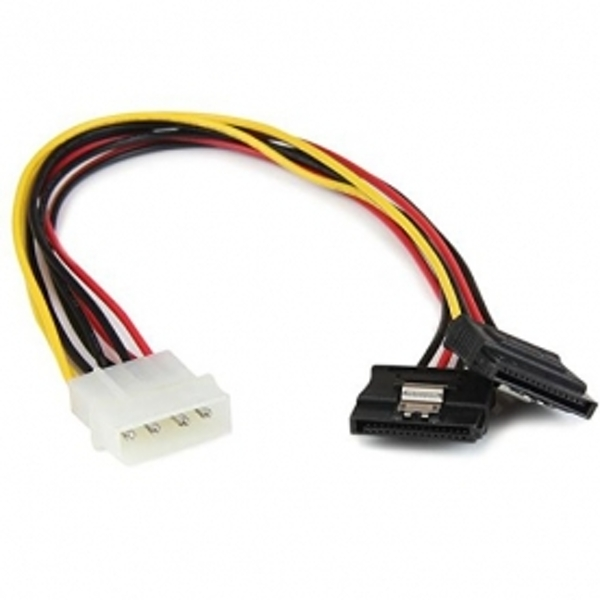 StarTech 12 inch LP4 to 2x Latching SATA Power Y Cable Splitter Adapter 4 Pin Molex to Dual SATA