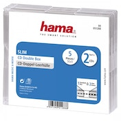 Hama Slim Double CD Jewel Transparent Case (Pack of 5)
