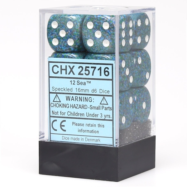 Chessex 16mm d6 Dice Block: Speckled Sea