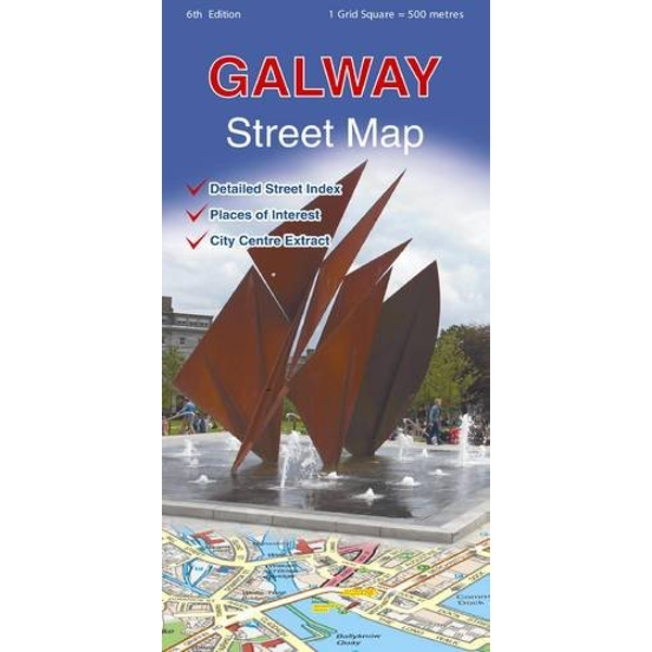 Galway Street Map  Sheet map, folded 2016