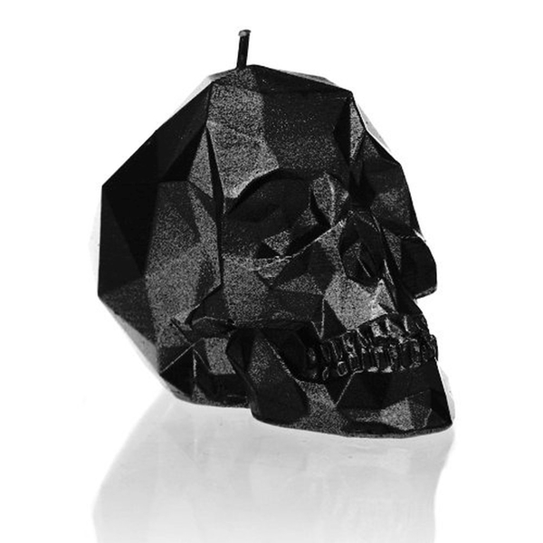 Black Metallic Small Low Poly Skull