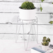 Metal Flower Pot Stand Silver | M&W - Image 6