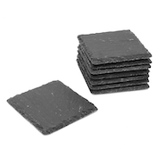 Non-Slip Slate Coasters | M&W 8pc New