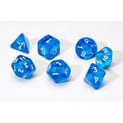 Sirius Dice - Translucent Blue Poly Set