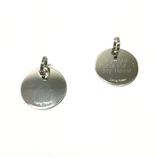 Long Paws Shiny Nickel Dog tag with a Plain Design