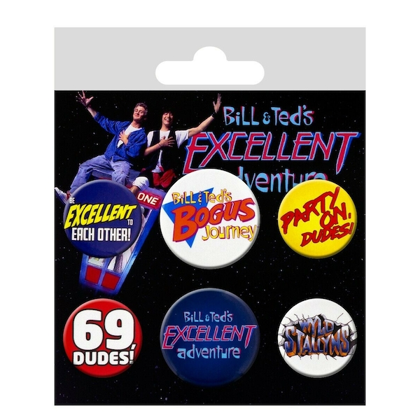 Bill & Ted Badge Pack (Black)