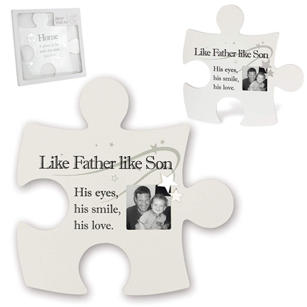 Said with Sentiment Jigsaw Wall Art Like Father like Son (Photo Frame)