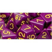 Role 4 Initiative Opaque Purple/Gold Poly 15 Set Dice