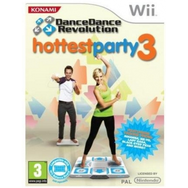 Dance Dance Revolution Hottest Party 3 Solus Game Wii