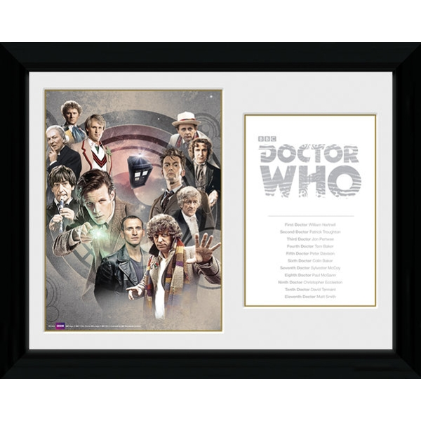 Doctor Who Doctors Framed Photographic Print