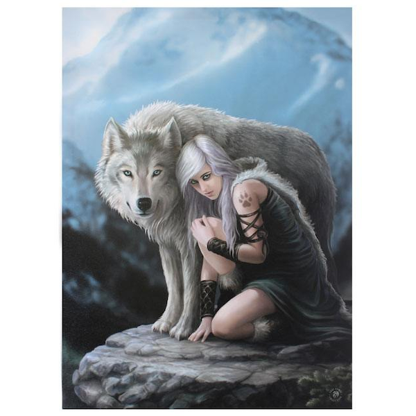Large Protector Canvas Picture By Anne Stokes