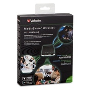 Verbatim MediaShare Wireless Portable Streaming Device Black