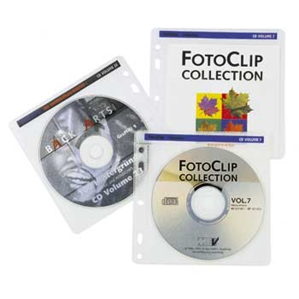 Hama Pockets for 100 CD/DVD in a binder - White
