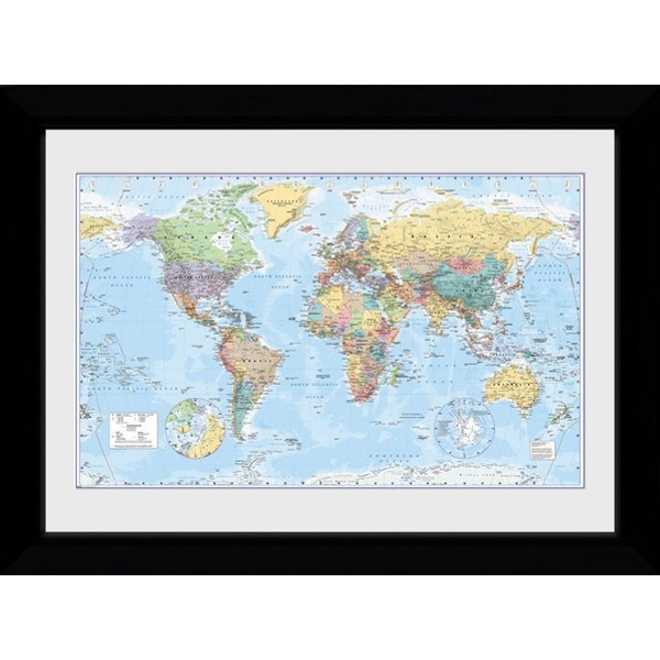 World Map 2017 Collector Print