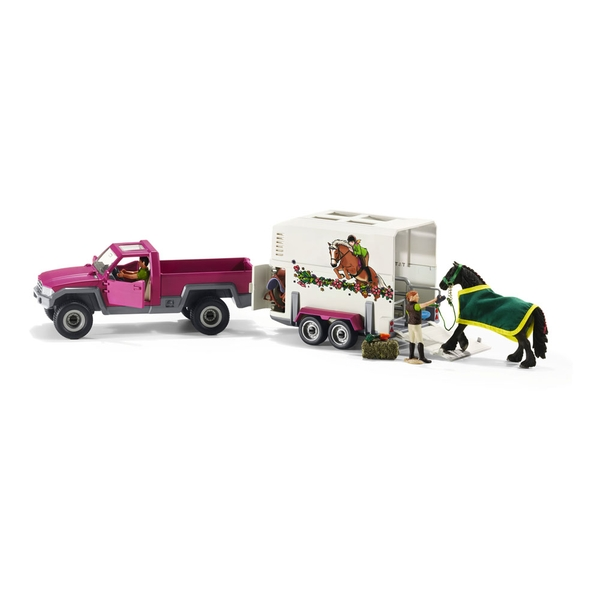 Schleich Horse Club - Pick Up With Horse Box