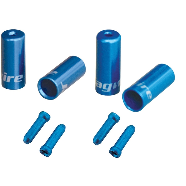 Jagwire Brake/Gear Universal Pro End Cap Packs (For Braided Housing) Blue 4.5/5mm