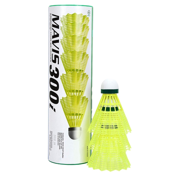 Yonex Mavis 300 Shuttles (Tube of 6) Yellow