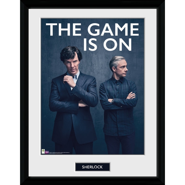 Sherlock The Game Is On Framed Collector Print