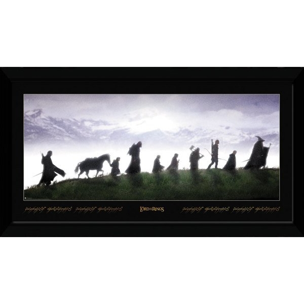 """Lord Of The Rings Fellowship 12"""" x 16"""" Collector Print"""