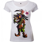 Nintendo Legend of Zelda Majora's Mask Womens Skinny Large White T-Shirt