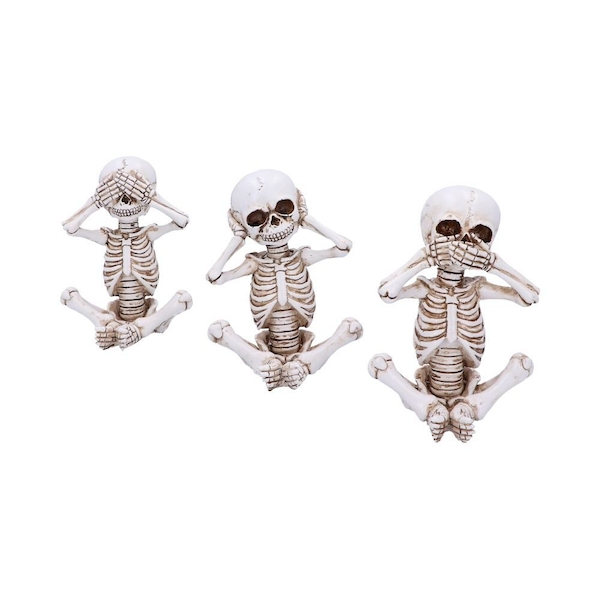 Three Wise Skellywags (Set of 3) Figurines