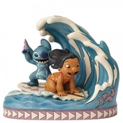 Ex-Display Catch The Wave (Lilo and Stitch 15th Anniversary Piece) Disney Traditions Figurine Used - Like New