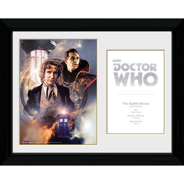 Doctor Who 8th Doctor Paul McGann Framed Photographic Print