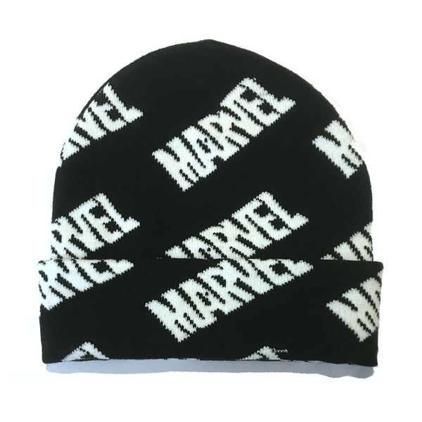 Marvel - Repeating Logo Unisex One Size Beanie - Black