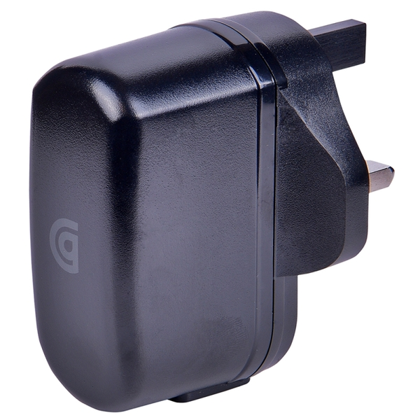 Griffin GP-010-BLK Mains Charger with USB-A to Lightning Cable - Black UK Plug