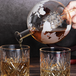 Globe Decanter with Wooden Stand | M&W - Image 4