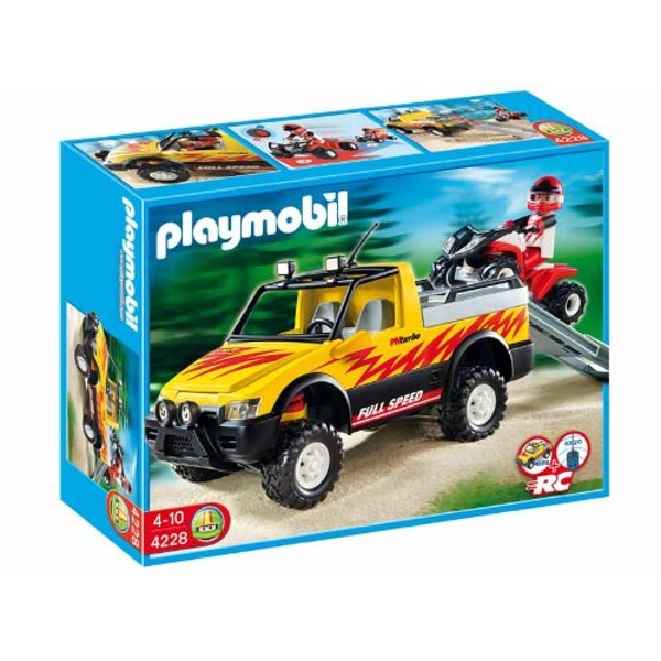 Playmobil Pick Up Truck with Quad - Image 1