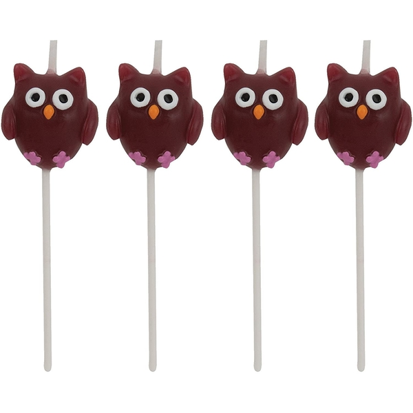 Mini Owls Candles (Pack Of 4)
