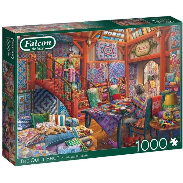 Jumbo Falcon de Luxe The Quilt Shop Jigsaw Puzzle - 1000 Pieces
