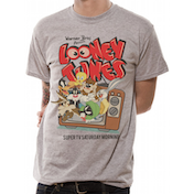 Looney Tunes - Retro TV Men's XX-Large T-Shirt - Grey