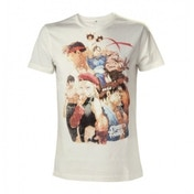 Street Fighter IV Adult Male Character Roster Small T-Shirt - White